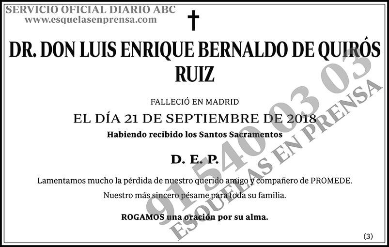 Luis Enrique Bernaldo de Quirós Ruiz